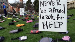 More than 1,000 backpacks representing the 1,000+ college students who die by suicide annually will be displayed on campus.