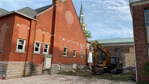 The capping of an abandoned gas well below the Mary Seat of Wisdom Chapel will lead to a significant renovation to the structure.