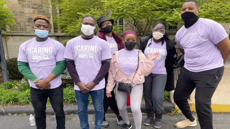 Gannon Day of Caring 2021: photo by Moses Juah