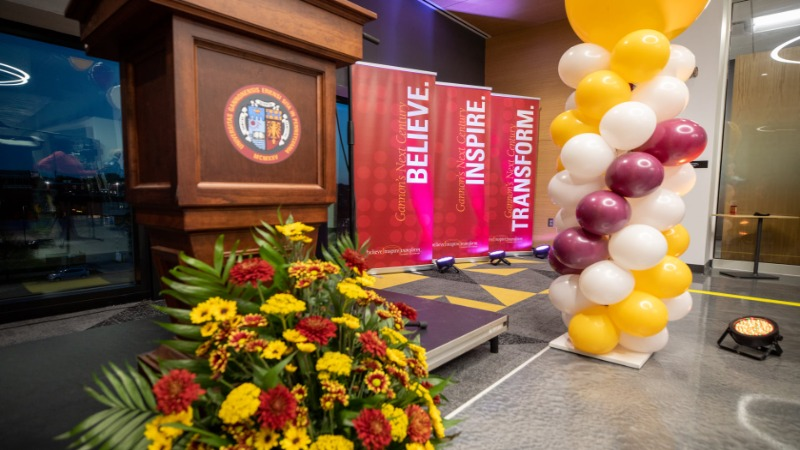 Gannon announced the launch of its comprehensive fundraising campaign during an event in I-HACK.