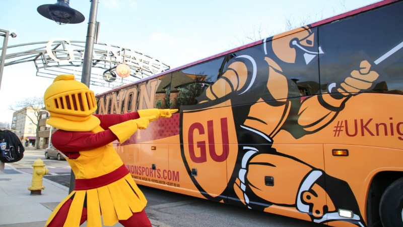 Gannon's team bus has a new look
