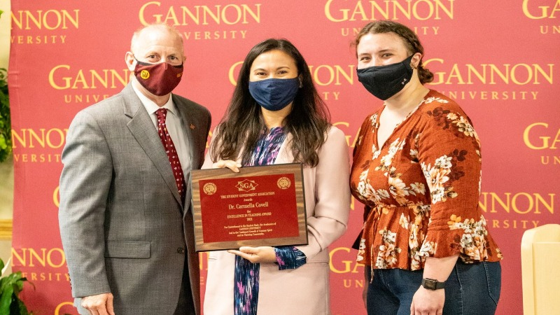 Dr. Carmella Covell, awarded the SGA Excellence in Teaching Award