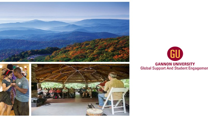Scenes from the Blue Ridge Parkway, Contra dance, and an Appalachian music concert at the Swannanoa Gathering