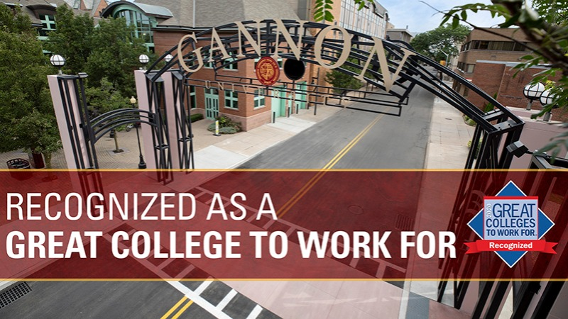 Gannon University has been recognized among colleges and universities named a 2020 Great College to Work For®.