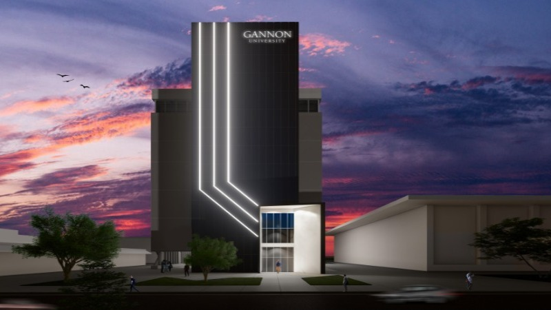 Rendering of Gannon University's Institute for Health and Cyber Knowledge, or I-HACK