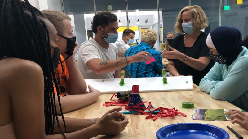 Students and faculty collaborate via the new minor in innovation and creativity.