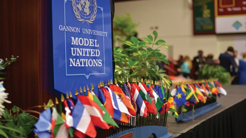 The 67th annual congregation of the GU Model UN will convene November 8 and 9, 2019, making it the longest consecutively-running Model United Nations in the United States.
