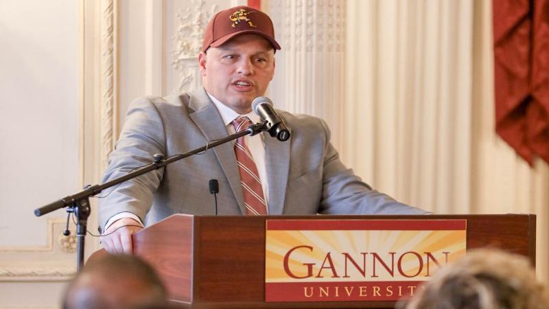 Gannon University has named Erik Raeburn as its next head football coach