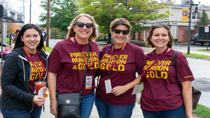 Gannon Family gather for Homecoming and Reunion Weekend 2018, photo by Rick Klein