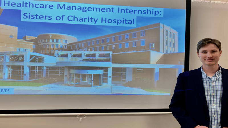 Gannon University Healthcare Management Student Completes Administrative Internship at Sisters of Charity Hospital, Buffalo