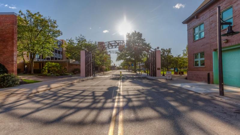 Gannon University's iconic Erie campus arch.