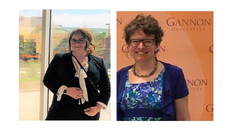 Taylor Bennett, Gannon Honors student & Director of Honors Program, Dr. Ann Bomberger