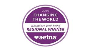 """Gannon University was honored with Aetna's """"Changing the World"""" award for creating a healthy workplace environment."""