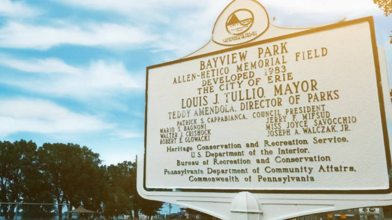 Bayview Park Historical Signage