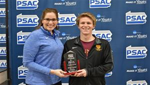 A finance major, Deemer boasts a perfect 4.00 GPA through 94 credits. He becomes the first repeat winner in men's swimming since Edinboro's Micah Cattell in 2015 and 2016.