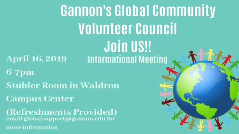 Meeting information for Global Community Volunteer Council