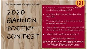 Gannon Poetry Contest