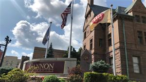 Gannon University, Old Main and monument