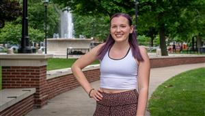 Kaitlyn Falk, licensed fitness instructor, wellness coordinator