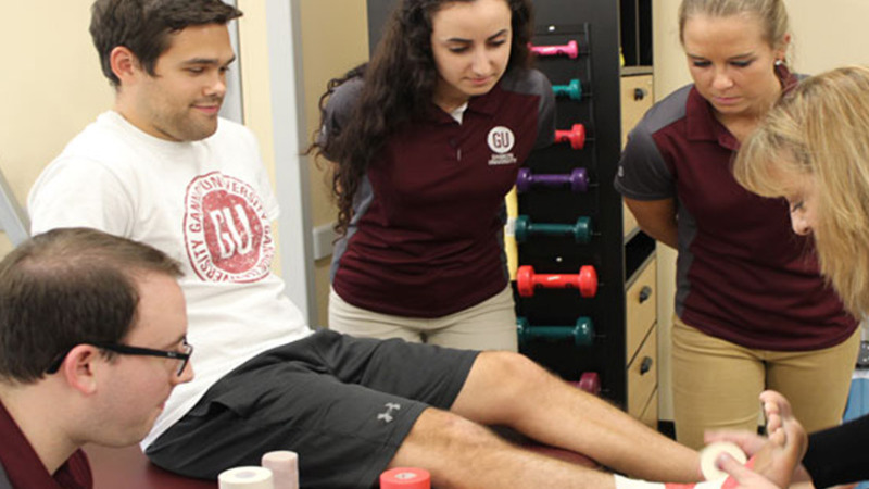 Students in a Master of Athletic Training Class