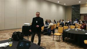 Dr. Philip Szmedra presenting