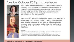 Join us for the Philosophy Department's Annual St. Albert the Great Lecture