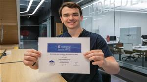 Travis Newcamp, 2021 Graduate of Gannon's Information Systems Program
