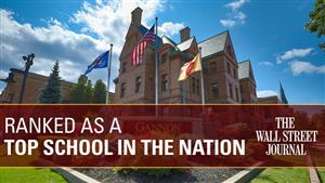 Gannon University was ranked as a top school in the nation by the Wall Street Journal's 2021 College Rankings.